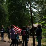 Camp Artemis Flag Ceremony